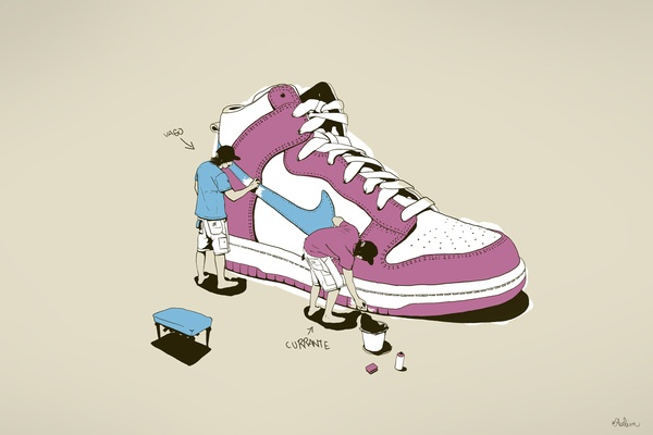 Nike graphic design just do it